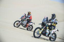 #54 Husqvarna Factory Racing: Andrew Short, #55 HT Rally Raid Husqvarna Racing: Walter Nosiglia Jage
