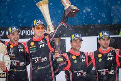 Podyum: Yarış galibi Thierry Neuville, Nicolas Gilsoul, Hyundai Motorsport, 3. Andreas Mikkelsen, An