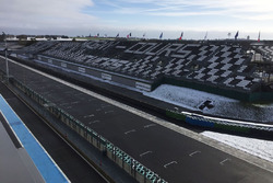 Magny-Cours grandstand under the snow