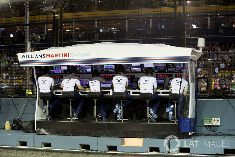 Il team Williams al muretto box