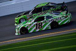 Daniel Suarez, Joe Gibbs Racing, Interstate Batteries Toyota Camry and Joey Logano, Team Penske, Fit