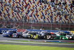 Johnny Sauter, GMS Racing, Chevrolet Silverado ISM Connect and Justin Haley, GMS Racing, Chevrolet Silverado Fraternal Order Of Eagles