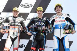 Xavi Vierge, Dynavolt Intact GP Francesco Bagnaia, Sky Racing Team VR46 Lorenzo Baldassarri, Pons HP40