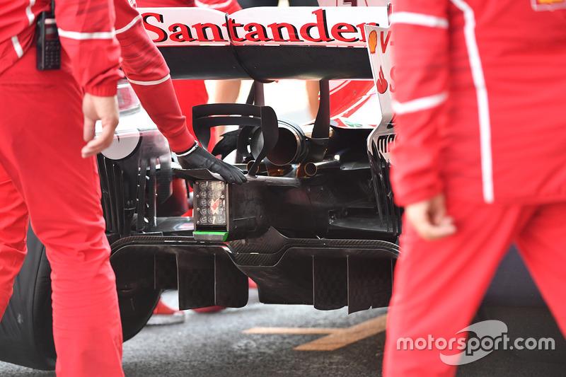 Ferrari SF70H rear diffuser detail