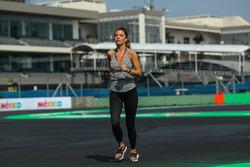 Federica Masolin, Presentatrice Sky Italia, corre