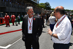 Chase Carey, Chief Executive Officer and Executive Chairman of the Formula One Group and Luca Colajanni, Formula One Senior Communications Officer