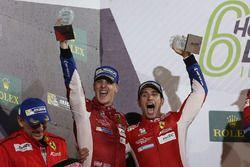 Podio LMGTE Pro: al secondo posto James Calado, Alessandro Pier Guidi, AF Corse