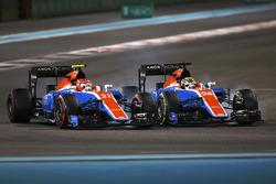 Esteban Ocon, Manor MRT05 batalla con Pascal Wehrlein, Manor MRT 05