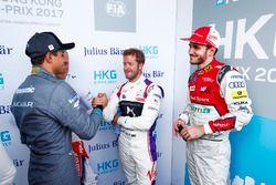 Nelson Piquet Jr., Jaguar Racing. Felix Rosenqvist, Mahindra Racing, Sam Bird, DS Virgin Racing, Dan