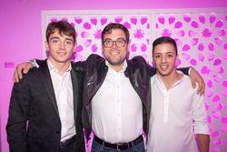 Charles Leclerc, PREMA Powerteam, Antonio Fuoco, PREMA Powerteam, avec René Rosin