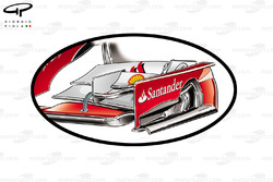 Ferrari F14 T - Front wing comparison (specification used until Bahrain test)