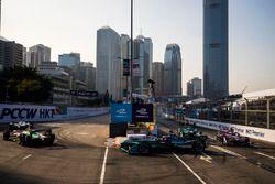 Daniel Abt, Audi Sport ABT Schaeffler, Mitch Evans, Jaguar Racing & Alex Lynn, DS Virgin Racing