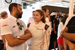 F1 Experiences 2-Seater passenger Barbara Palvin