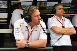 Zak Brown, McLaren Racing CEO and Gil De Ferran, McLaren Sporting Director