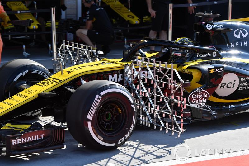 Nico Hulkenberg, Renault Sport F1 Team R.S. 18 with aero sensors