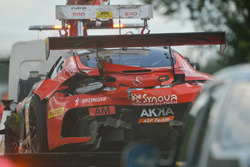 The car of #89 Akka ASP Team Mercedes-AMG GT3: Eric Debard, Philippe Giauque, Fabien Barthez, Nico Jamin after the crash