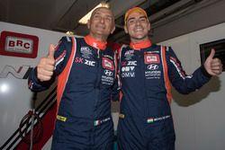 Gabriele Tarquini, BRC Racing Team Hyundai i30 N TCR en Norbert Michelisz, BRC Racing Team Hyundai i30 N TCR
