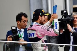 Sergio Perez, Force India celebra