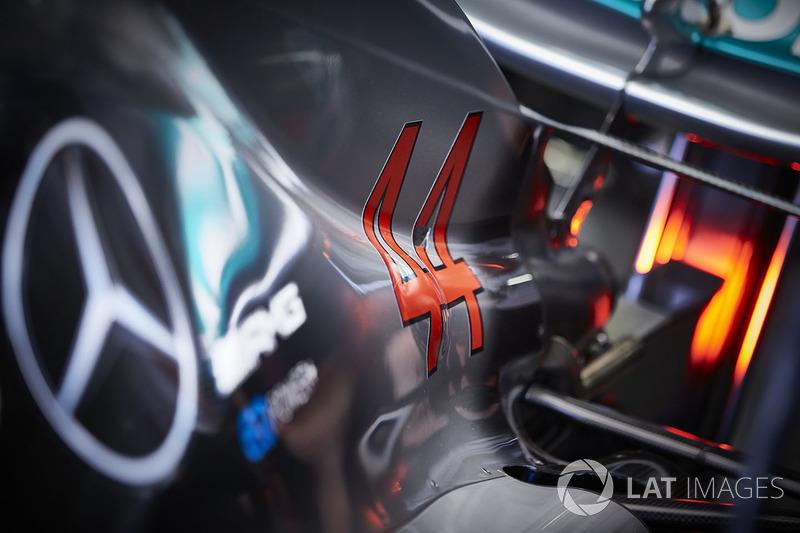 Carrocería trasera del Mercedes AMG F1 W09 de Lewis Hamilton, Mercedes AMG F1