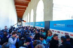 Media Pen for the Paris ePrix with Andre Lotterer, Techeetah, Ma Qing Hua, NIO Formula E Team, reserve driver, Maro Engel, Venturi Formula E Team