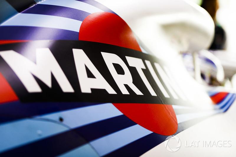 Logotipo de Martini en el automóvil de Sergey Sirotkin, Williams FW41 Mercedes