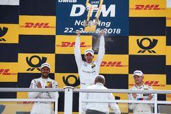 Podio: il vincitore della gara Mattias Ekström, Audi Sport Team Abt Sportsline, il secondo classificato Gary Paffett, Mercedes-AMG Team HWA, il terzo classificato Marco Wittmann, BMW Team RMG