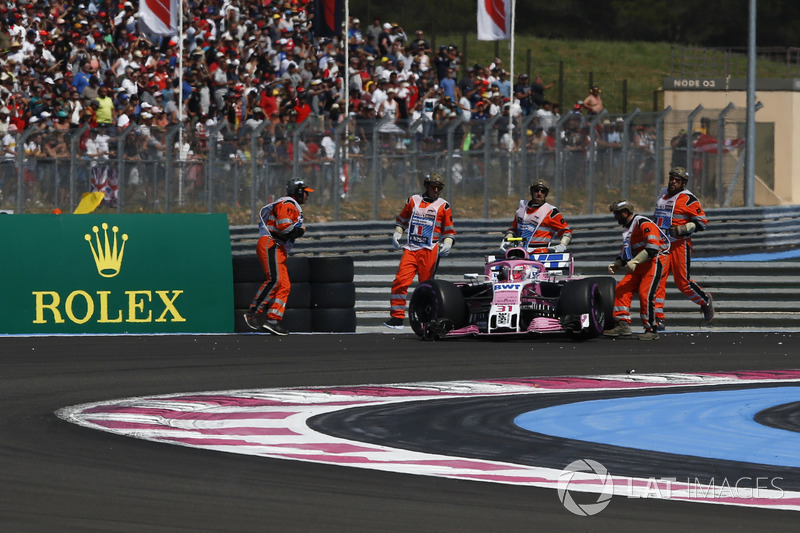 Abandon : Esteban Ocon (Force India)