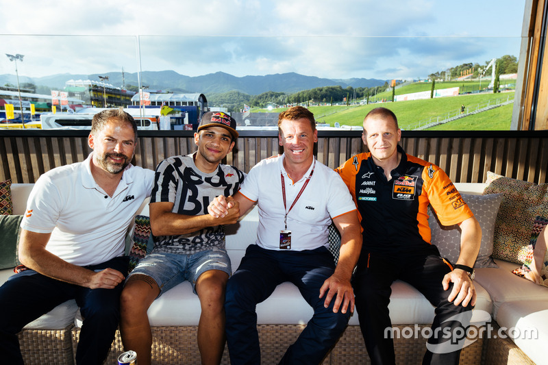 Jens Hainbach, Jorge Martin, Pit Beirer and Aki Ajo, Red Bull KTM Ajo team