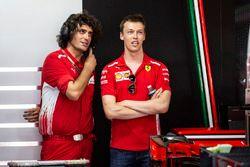 Daniil Kvyat, Ferrari and Marco Matassa, Ferrari Engineer