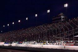 Brett Moffitt, Hattori Racing Enterprises, Toyota Tundra AISIN Group leads the field