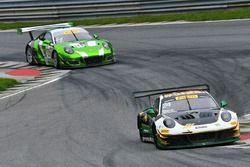 #24 Alegra Motorsports Porsche 911 GT3 R: Michael Christensen, Spencer Pumpelly, #54 Black Swan Racing Porsche 911 GT3 R: Tim Pappas, Jeroen Bleekemolen