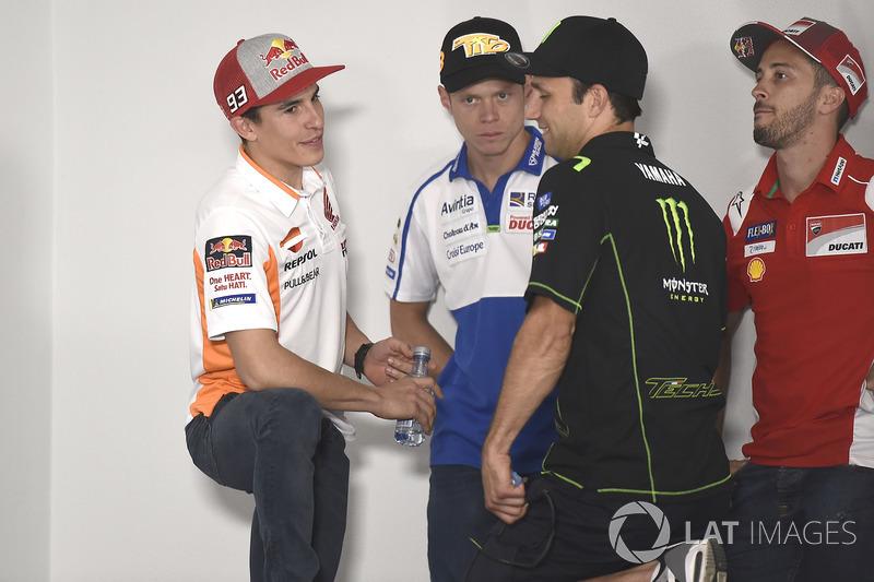 Marc Marquez, Repsol Honda Team, Tito Rabat, Avintia Racing, Andrea Dovizioso, Ducati Team, Johann Zarco, Monster Yamaha Tech 3