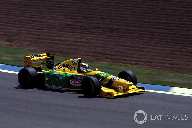 1993: Benetton - 4º lugar, 1 vitória, 52 pontos, 16 GPs