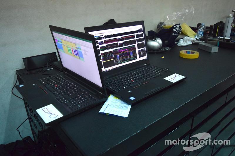 PC con i dati della telemetria