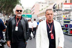 Flavio Briatore en Jean Alesi
