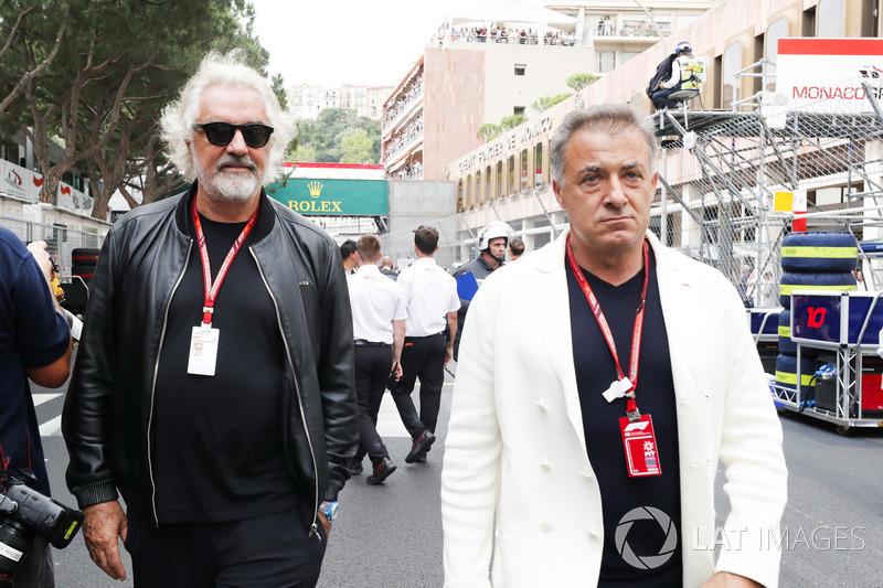 Flavio Briatore e Jean Alesi