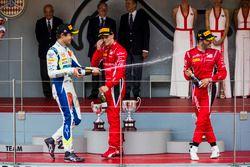 Podio: Lando Norris, Carlin, Antonio Fuoco, Charouz Racing System, Louis Deletraz, Charouz Racing System