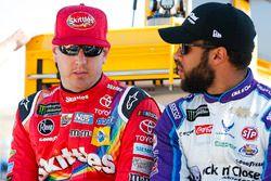 Kyle Busch, Joe Gibbs Racing, Toyota Camry Skittles Sweet Heat and Darrell Wallace Jr., Richard Petty Motorsports, Chevrolet Camaro The Cosmopolitan of Las Vegas
