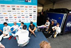 Formula E drivers wait for the drivers parade