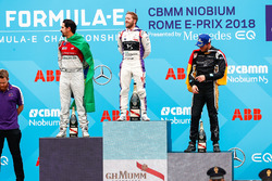 Sam Bird, DS Virgin Racing, remporte l'E-Prix de Rome devant Lucas di Grassi, Audi Sport ABT Schaeffler, et Andre Lotterer, Techeetah