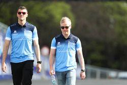 Felix Rosenqvist, Mahindra Racing, lors du trackwalk