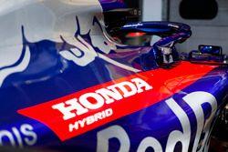 A Honda logo on Toro Rosso bodywork