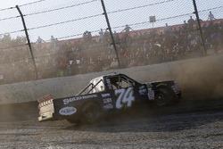 Trevor Collins, Mike Harmon Racing, Chevrolet Silverado spins