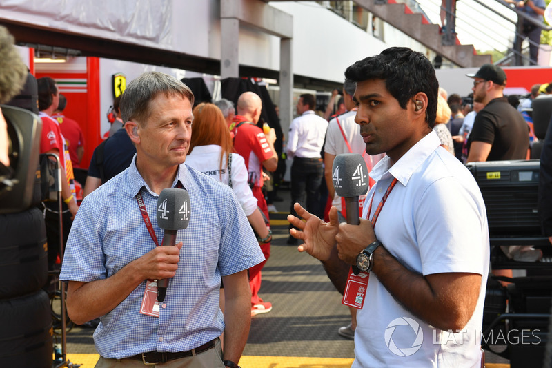 Ben Edwards, Channel 4 F1 and Karun Chandhok, Channel 4 F1