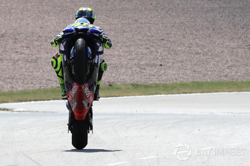 Il secondo classificato Valentino Rossi, Yamaha Factory Racing