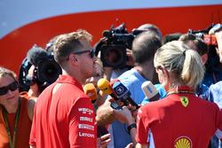 Sebastian Vettel, Ferrari, parle à la presse