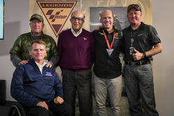 Carmelo Ezpeleta, CEO of Dorna Sports, Randy Mamola, Kenny Roberts, Kenny Roberts Jr., and Wayne Rainey