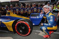 Alexander Rossi, Andretti Autosport Honda celebra