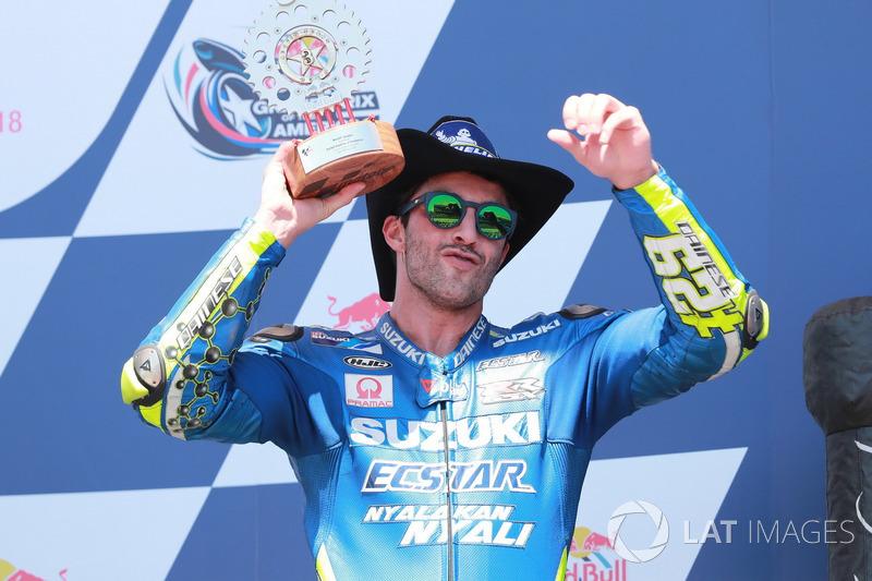 Podium: Andrea Iannone, Team Suzuki MotoGP