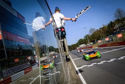 Race winner #63 GRT Grasser Racing Team Lamborghini Huracan GT3: Mirko Bortolotti, Christian Engelhart